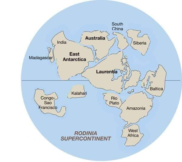 terre emerse circa 750 milioni di anni fa