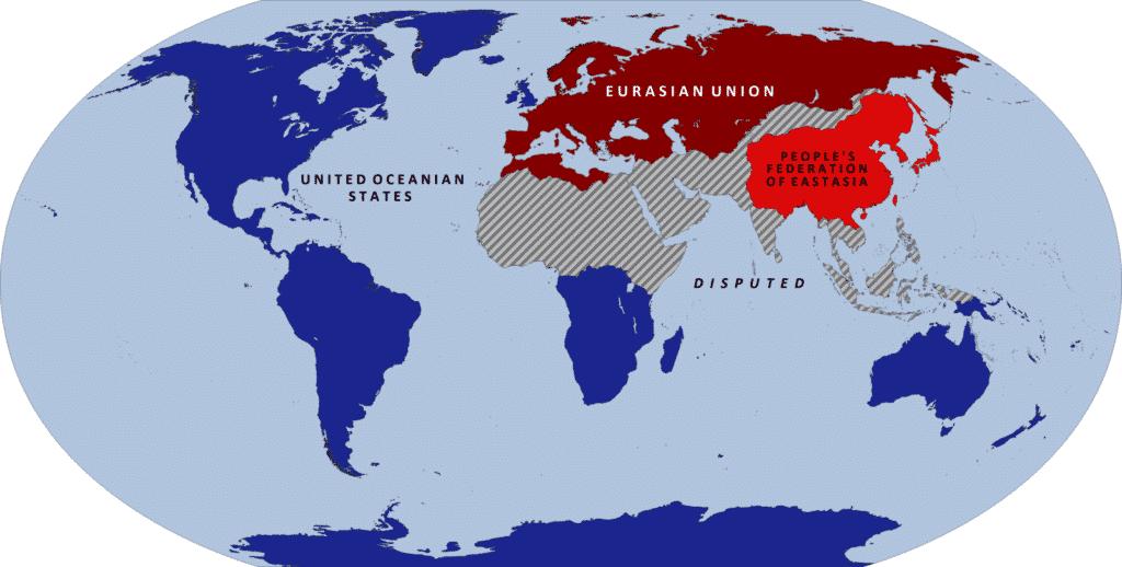 Oceania, Eurasia ed Estasia