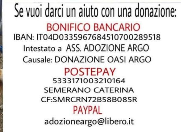 Rifugio Argo donazione
