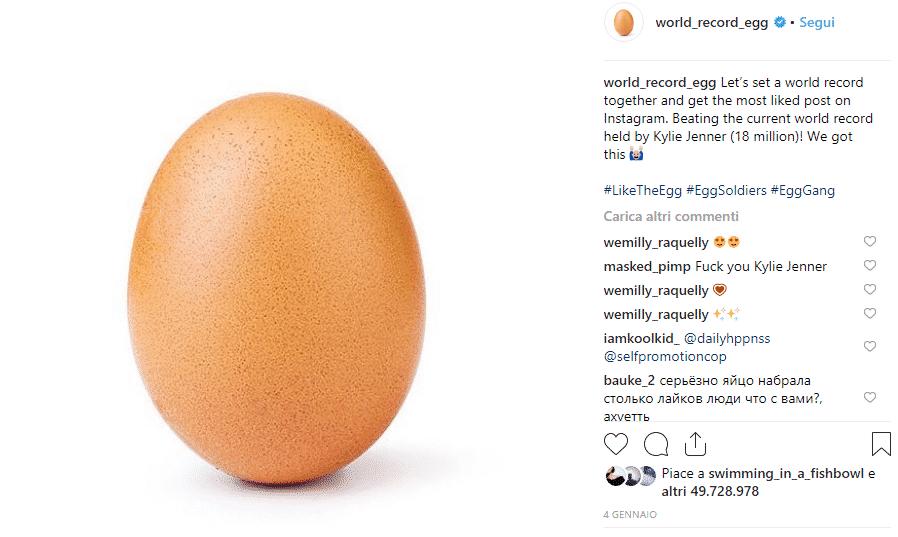 world record egg instagram